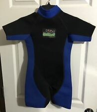 Youth Size Small 5/6 Akona CoolFrog Scuba Diving Dive Snorkel Shorty Wetsuit