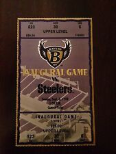 1998 Baltimore Ravens Football Ticket First Game at Camden Yards Steelers Sept 6