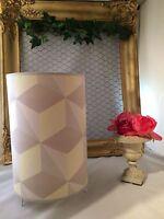 Lampe cylindrique fait main décor de losanges .shaby chic,rétro moderne vintage