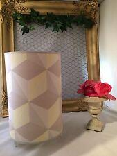 Lámpara cilíndrico hecho a mano decoración de rombos .shaby chic,retro moderno
