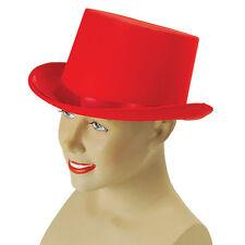 # Chapeau Haut-De-Forme Satin Rouge Années 1920 & 1930 Gentleman Magiciens