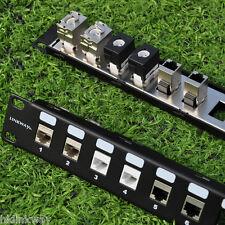 "24 Port 1U Blank Modular Patch Panel - 19"" Rack Mount"