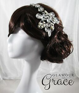 Alexis Vintage wedding pearl crystal headband hair accessory headpiece RRP $130