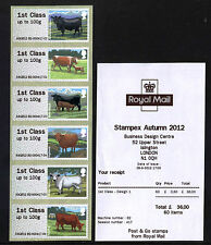 NEW! Post & Go HYTECH CATTLE 6xIST STRIP FARM ANIMALS STAMPEX SEPTEMBER 2012