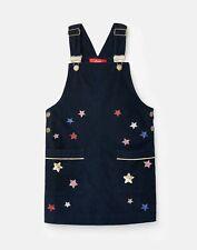 Joules Girls Laughton Pinafore Dress  - Navy Star - 7Yr-8Yr
