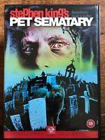 Mascota Sematary DVD 1989 Original Cemetery Stephen King Terror Película de Cine