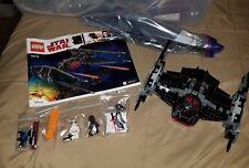 Lego Star Wars Kylo Rens tie fighter (75179) 100% complete adult built