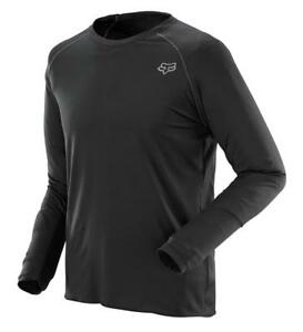 Fox Racing FIRST LAYER Long Sleeve Jersey BLACK All Sizes 07584-001 MX ATV
