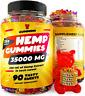 Hemp Gummies - 35,000 MG Anxiety, Stress, Pain Relief, Omega 3-6-9, Vitamins B,E