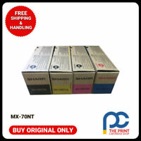 Original SHARP MX-70GTBA MX-70GTCA MX-70GTYA MX-70GTMA  CYMK SET