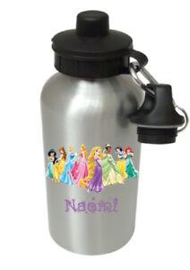 Disney Princesses- Personalised Kids/Drinks/Sports Childrens Water Bottle