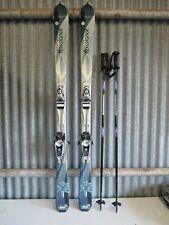 Rossignol Saphir Downhill Skis 150cm w/Rossignol 110 Bindings & Poles Nice Shape