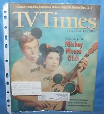 Rare Tv Times Rejoining Disney Mickey Mouse Club Annette & Jimmie Oct. 1-7 1995