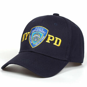 Mens Women NYPD Embroidery Baseball Cap Police Department Hat Motorcycle Trucker