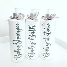 Baby Shampoo Lotion Bath Personalised Pump Bottles Hinch Baby Shower New Mumtobe