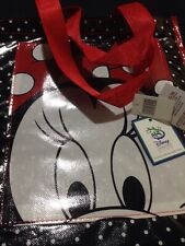 Minnie Mouse Polka Dots Disney Reusable Shopping Grocery Tote Bag New with Tags