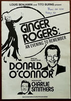 Ginger Rodgers: An Evening To Remember Souvenir Brochure / Programme 1970's