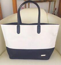 ST. JOHN White & Black Sport tote Bag, Purse, BRAND NEW, Faux Leather & Nylon