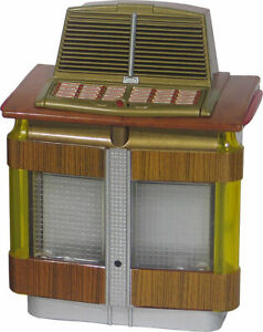 JUKEBOX MINIATURE COLLECTIBLE AIREON 1200 AIRLINER (1948) LIGHTS & PLAYS