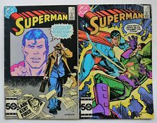 Superman Comic Books #410 #412 DC Comics 1985