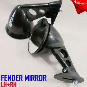 FOR DATSUN Z 240Z 260Z 280Z NEW JDM Style Black Fender Mount Side Mirrors PAIR