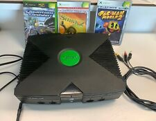 Xbox Console Microsoft Original With 3 Games & Cables (d)
