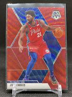 Joel Embiid 2019-20 Panini Mosaic Tmall Red Wave Prizm Philadelphia 76ers