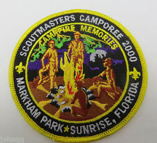 Boy Scout BSA 2000 41st Scoutmasters Camporee Markham Park Sunrise FL Patch
