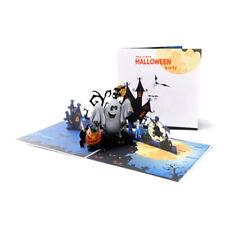 Halloween Pumpkin Ghost Pop Up Greeting 3D Card Gift Birthday Anniversary