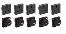 5x UK to USA US America Canada Tourist Travel Plug Power Mains Adaptor - Black