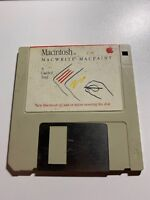 1984 Macintosh MacWrite and MacPaint Guided Tour Software Disk 128K Mac