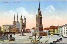 Halle / Saale, Marktplatz, Feldpost 1916, versandt nach Darmstadt