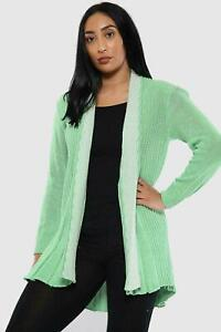 WOMENS LADIES CASUAL BASIC  KNITTED CARDIGAN  WINTER TOP PLUS SIZE S M L XL