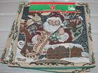 3 NOS Christmas CUSHION COVER tapestry zippered Santa Reindeer 14 x 14