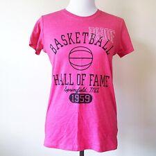 Nwot Naismith Basketball Hall of Fame Womens Tshirt Top Shirt Hot Pink Large