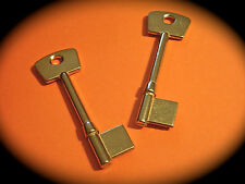 5 Lever Key Blank Pair To Suit CHUBB-2 Keys. Mortise, 3G114, Brass
