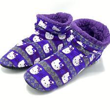 Hello Kitty Sanrio Fuzzy Slippers Booties Purple - Women's Size 7
