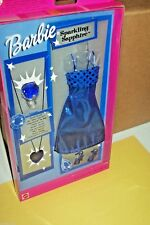 Barbie Fashion Avenue Shiny Dress Sparkling Sapphire Accessories 2001 Mattel