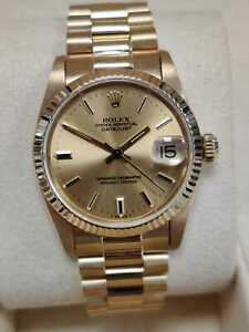 Rolex Datejust 6827 18ct Yellow Gold 31mm 1979 Gold Dial President Bracelet(134)