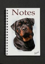 Rottweiler Dog Notebook/Notepad with a small image on every page - by Starprint
