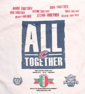 CLEVELAND CAVS ALL TOGETHER 2010 PLAYOFF RALLY TOWEL ARENA PROMO