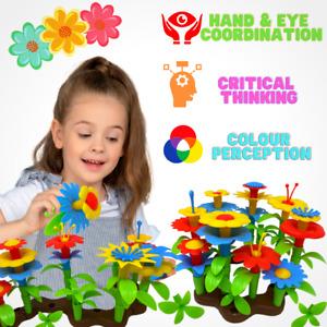 Flower Build A Garden Toy 104pc Building Blocks Set Floral Arrangement for Kids