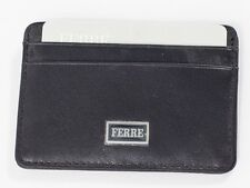 New Ferre Black Leather Leather Credit card holder