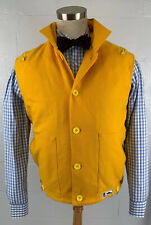MARINA YACHTING vintage italy bold yellow wool button down sailing vest sz small