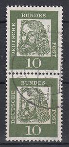 BRD 1961 Mi. Nr. 350 weißes Papier senkrechtes Paar gestempelt (18451)
