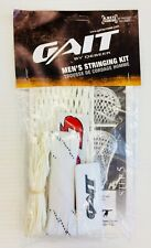 New Gait Soft Mesh Lacrosse Head Stringing Kit string lax white strings complete