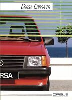 Opel Corsa + TR Prospekt 1984 8/84 Autoprospekt brochure prospectus broschyr Pkw