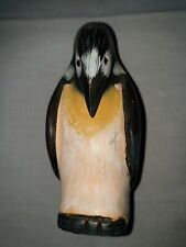 Lovely Hand Painted Bead Eye Penguin Ornament Statue Figure hanging head pose