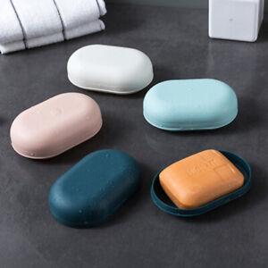 Portable Travel Soap Box Plastic Sealed Leak-proof Storage Case Holder Tray