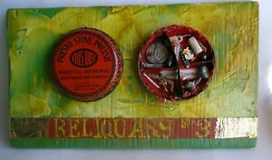 "Jeff Brown artwork found objects assemblage collage unique ""Reliquary 3"""